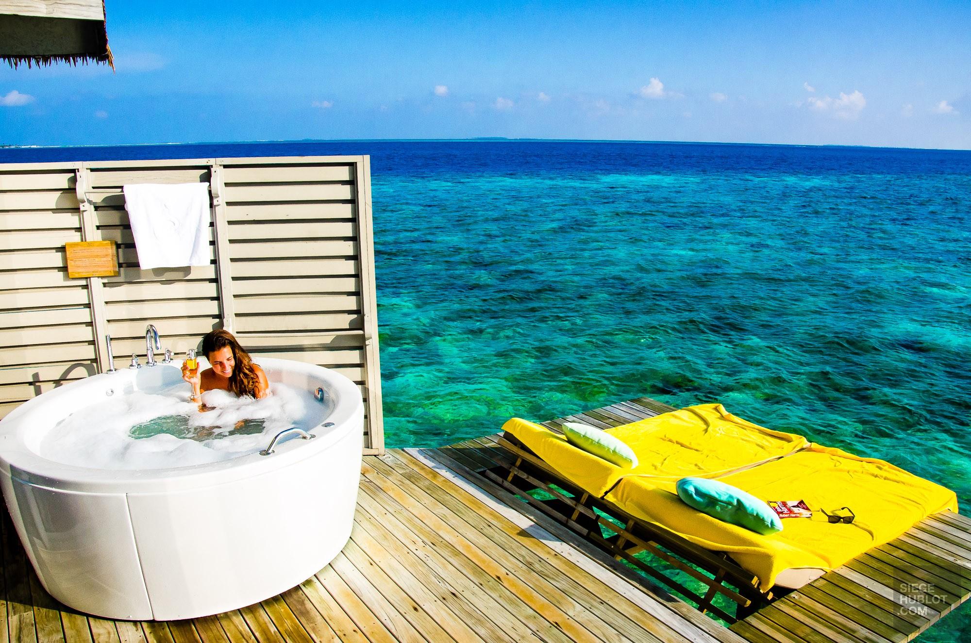 Bain tourbillon mer - Centara ras fushi - Les Maldives, le grand luxe en plein ocean Indien. - Asie, Maldives