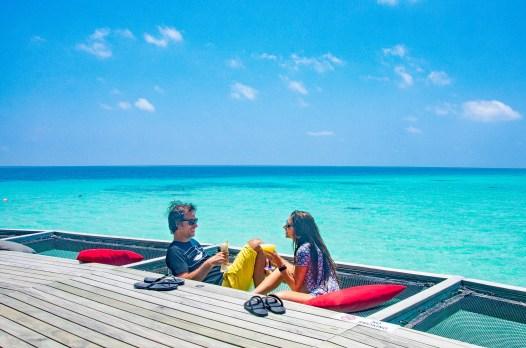 bar hamac - Centara ras fushi - Les Maldives, le grand luxe en plein ocean Indien. - Asie, Maldives