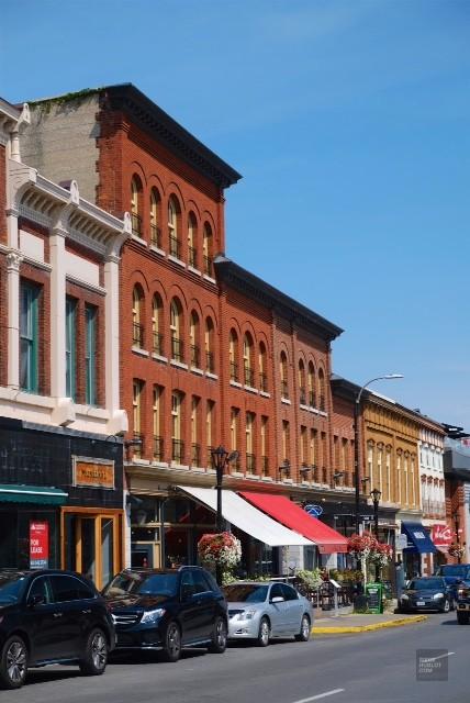Rue Princess Street à Kingston - première capitale - Road trip en Ontario - Amérique du Nord, Canada