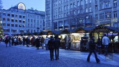 Kiosques centre-ville - Prague, République tchèque - Marchés de Noël - Europe, Autriche, République tchèque, Slovaquie