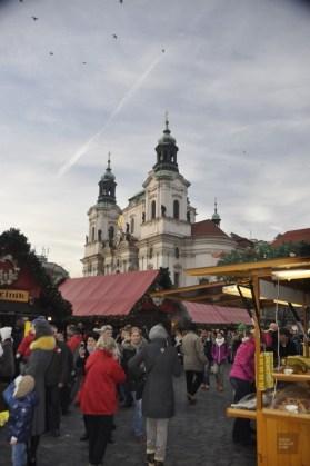 Kiosques noel jour - Prague, République tchèque - Marchés de Noël - Europe, Autriche, République tchèque, Slovaquie