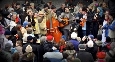 Musiciens Prague - Prague, République tchèque - Marchés de Noël - Europe, Autriche, République tchèque, Slovaquie