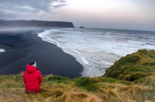 plage sable volcanique vik environs islande