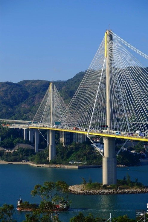 Pont de Ting Kau - Balade en autobus - Séjour à Hong Kong - Asie, Chine