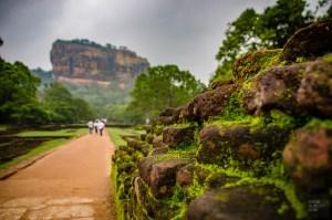 rocher du lion ruine - vieilles cites, temples et monasteres - Sri Lanka, au cœur de l ile - Asie, Sri Lanka
