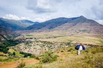 cheval paysage - Randonnee equestre au Lesotho - Afrique, Lesotho