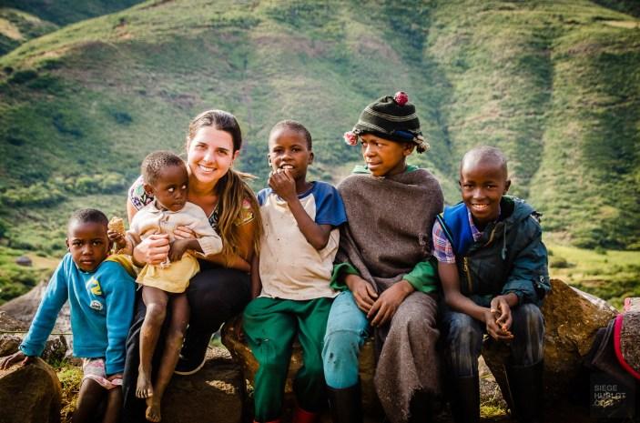 enfants - Randonnee equestre au Lesotho - Afrique, Lesotho