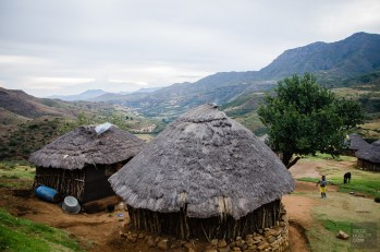 huttes - Randonnee equestre au Lesotho - Afrique, Lesotho