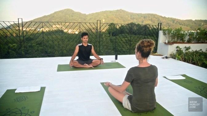 Au lever du soleil, sur le toit - Yoga shala et méditation - Krabi et son unique resort écologique - Asie, Thaïlande
