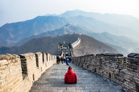 marche muraille repos - Mutianyu - La Grande Muraille de Chine, un lieu mythique - Asie, Chine