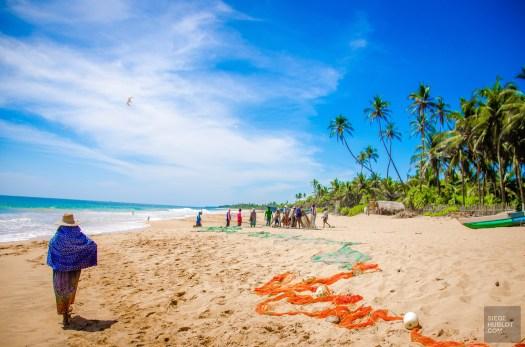 vie locale plage - La cote sauvage de Tangalle - Les plages du Sri Lanka et plus encore - Asie, Sri Lanka