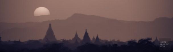 lever de soleil - Bagan, capitale de l ancien royaume de Pagan - A la recherche du temple perdu Bagan, Myanmar - Asie, Myanmar