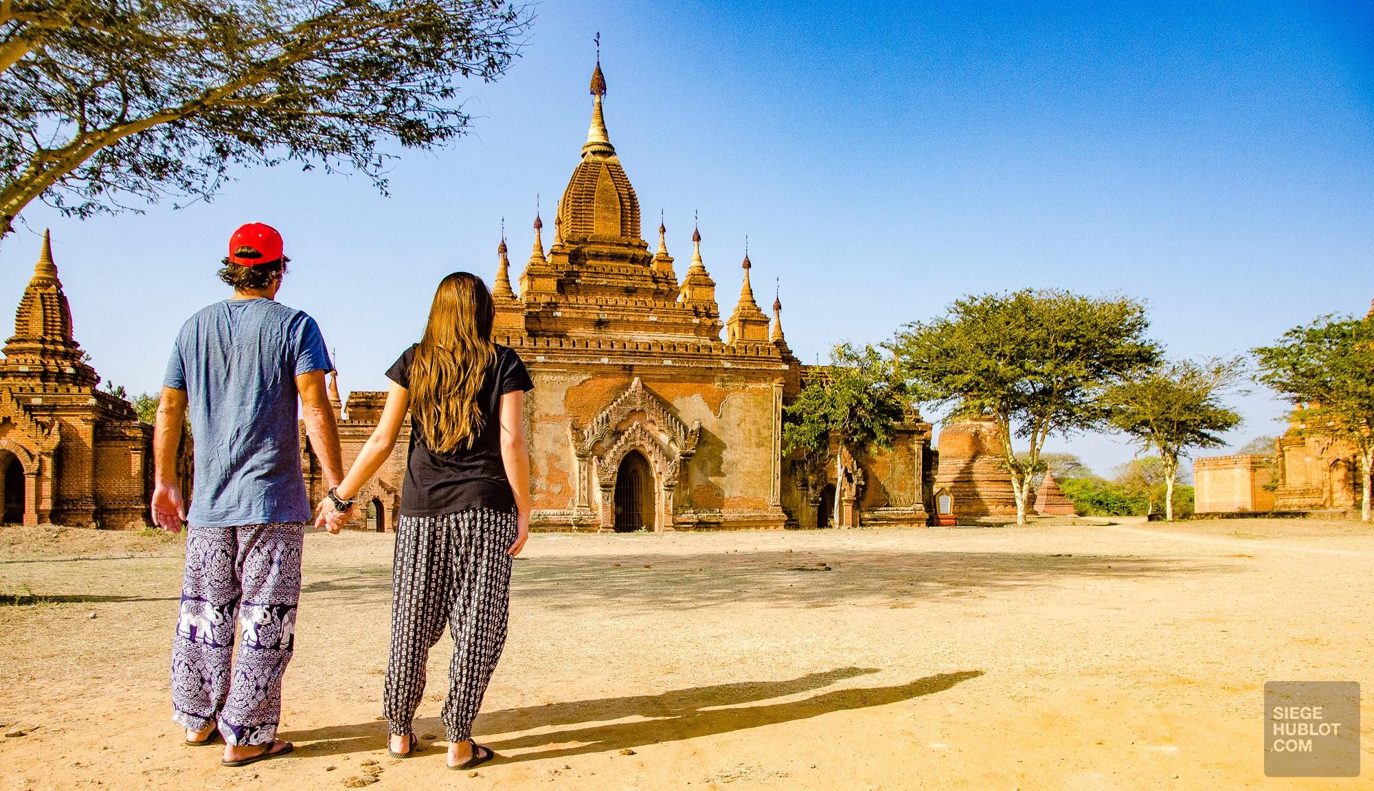 un temple a deux - Bagan, capitale de l ancien royaume de Pagan - A la recherche du temple perdu Bagan, Myanmar - Asie, Myanmar