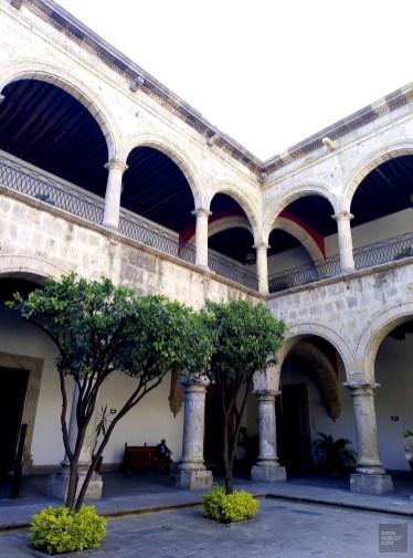 La cour intérieure du Palacio de Gobierno - Architecture coloniale - Tout ça à Guadalajara - Destination, Amérique du Nord, Mexique