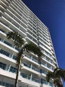 Vue arrière depuis la terrasse - Nouvel hôtel design - à Mazatlan - Amérique du Nord, Mexique