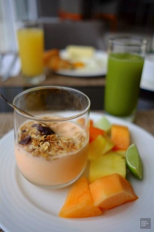 Jus et fruits frais au petit-déjeuner - Les restaurants - Boutique hôtel à Mazatlan - Amérique du Nord, Mexique