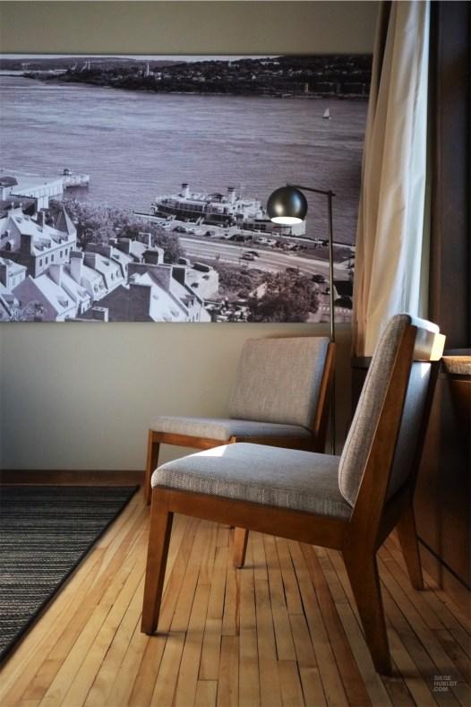 Chaises design - Les chambres et suites - L'hôtel 71 dans le Vieux-Québec - Québec, Canada