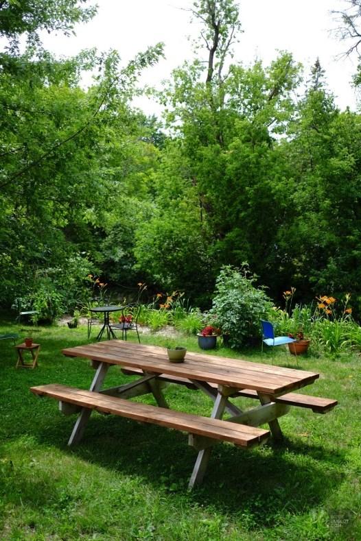 Prendre le café à l'extérieur - Station 210 - Une journée dans les Basses-Laurentides - Amérique du Nord, Canada, Québec, Laurentides