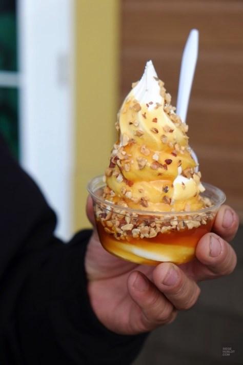 Sundae au caramel - Bleuetière Goulet - Balade en Beauce - Amérique du Nord, Canada, Québec, Chaudière-Appalaches