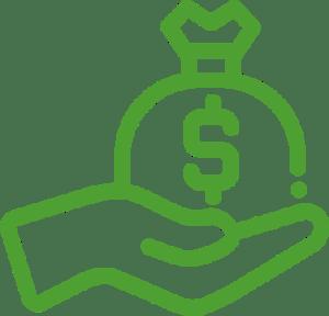 Pieniądze na ręku - ikona