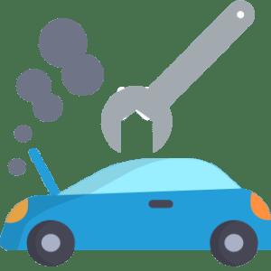 Uszkodzony samochód - ikonka