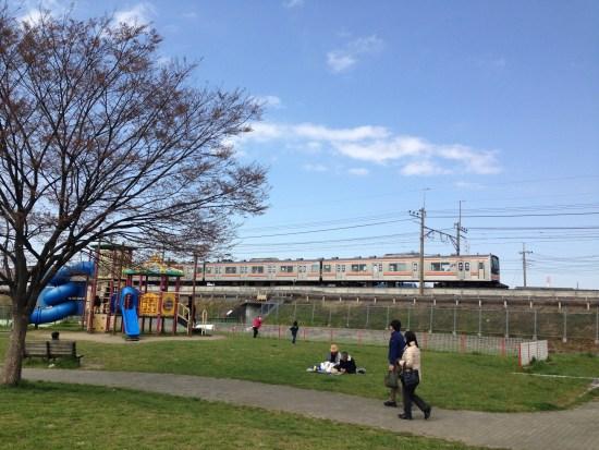 出羽公園の武蔵野線
