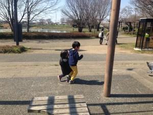 出羽公園の子供たち