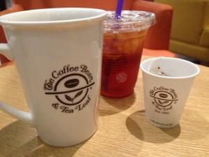 コーヒービーンのコップ
