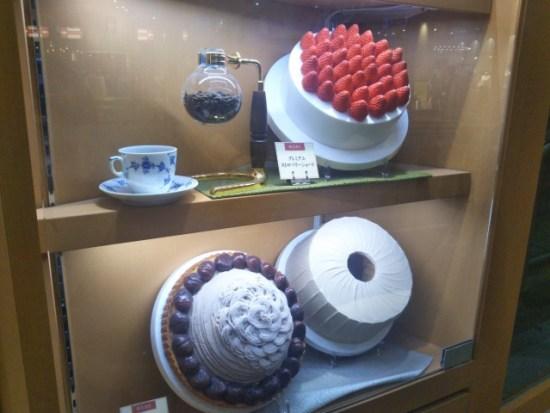 椿屋カフェのケーキ
