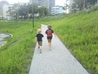 子供が本当に楽しそうに遊んでいる姿を見て嬉しかった。子供同士だと親と遊ぶときとは違う