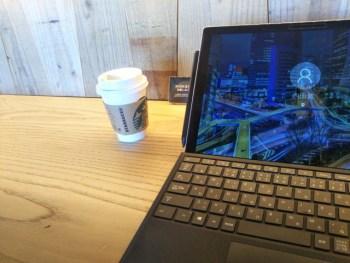 よく行く場所のお気に入りのカフェ。快適さを重視