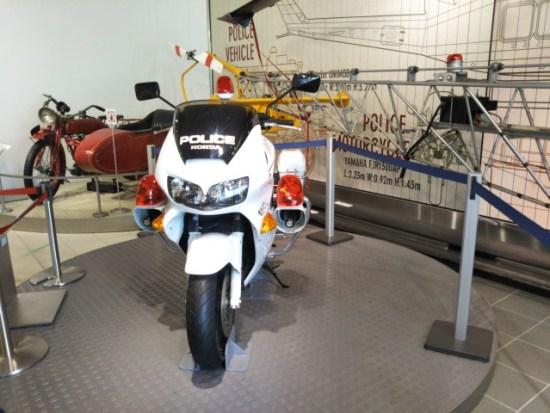警察博物館の白バイ