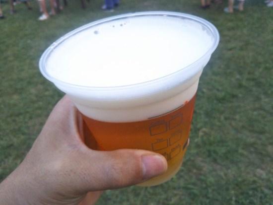 ジャズ&グルメフェスタのビール