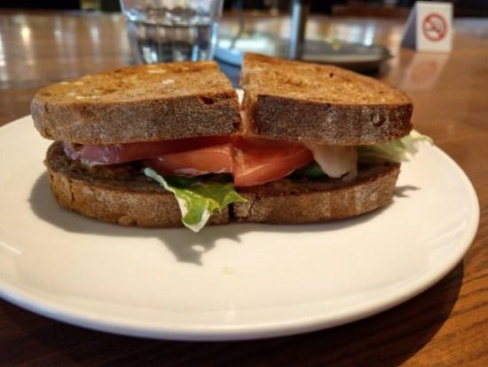 上島珈琲のサンドイッチ