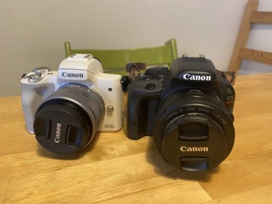 eoskissmとeoskissx7のカメラ