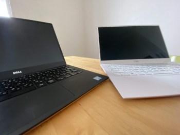 PC2台を同時に使うのがいい感じ。場所を変えてもデュアルモニター
