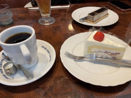 星野珈琲店のケーキセット