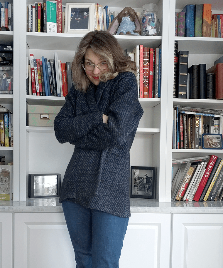 Cozy up in a wool cardigan sweater! This Seamwork Olso review shares tips for how to successfully sew your own sweater.