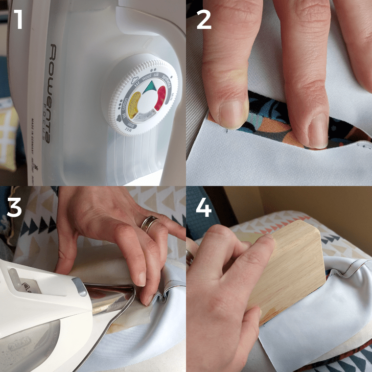When it comes to pressing, top tips for working with scuba fabric include: use the wool/silk setting and flatten seams with a clapper.