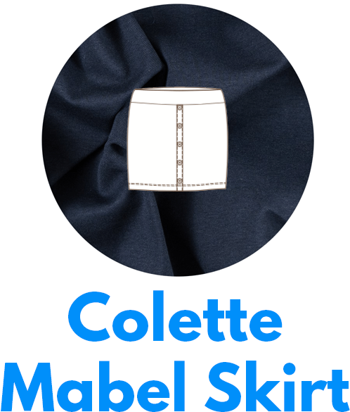 The Colette Mabel skirt is one of my capsule wardrobe sewing patterns.