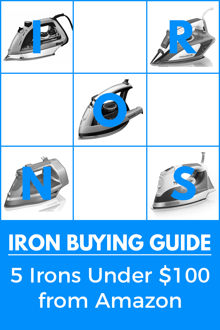 Check out five irons for sewing for under $100 on Amazon. The five brands reviewed are Rowenta, Shark, Hamilton Beach, Black + Decker, and Panasonic.