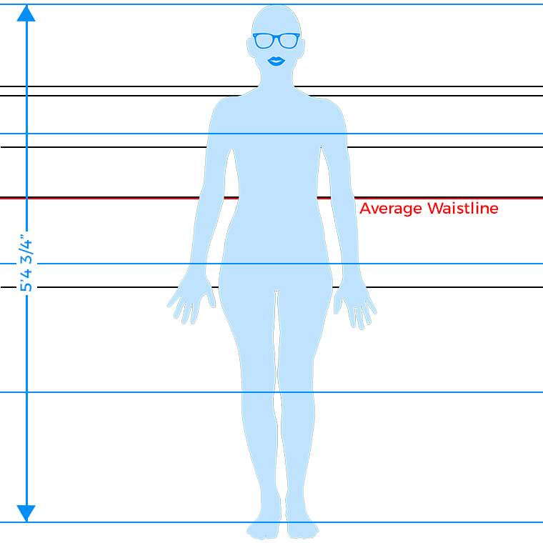 The meat of body type analysis is comparing your length proportions to the average figure. For the average figure, the hips are in the middle of the body.