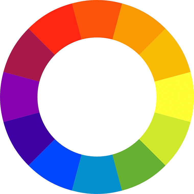 Here's a color-blocking tip: Get comfortable with the color wheel.