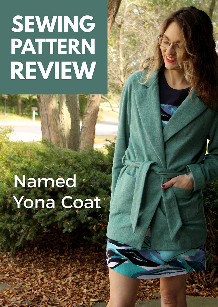 The Yona coat is a wrap coat from Named. Here's my no-holds-barred review of the Yona coat sewing pattern.
