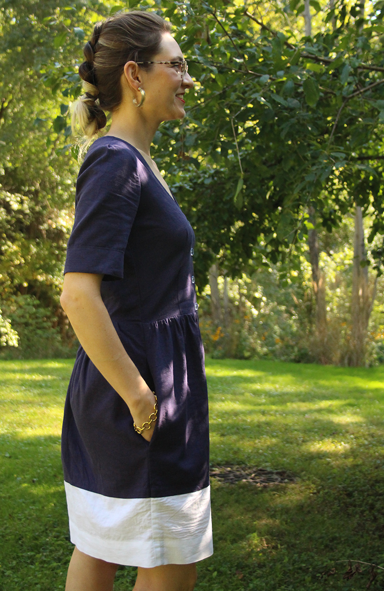 I cuffed the sleeves of my Megan Nielsen Darling Ranges shirt dress.