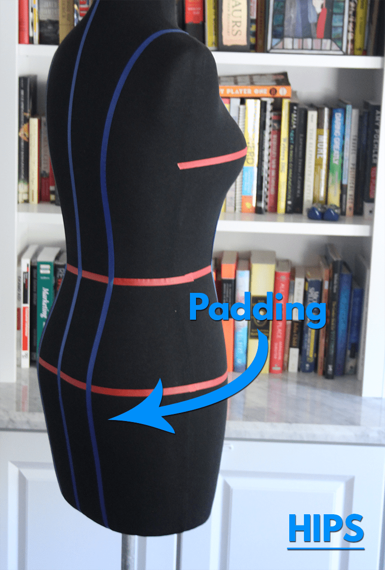 Here's how to pad hips on a dress form.