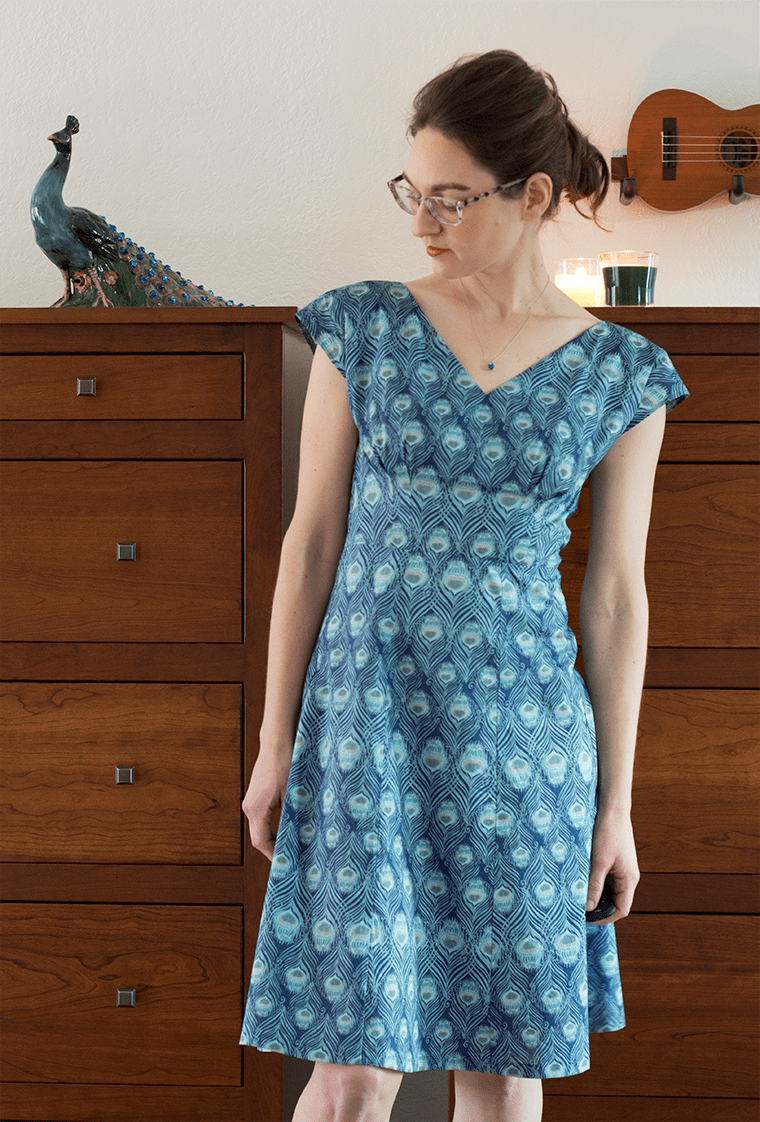 This By Hand London Anna dress required deep thinking about print matching.
