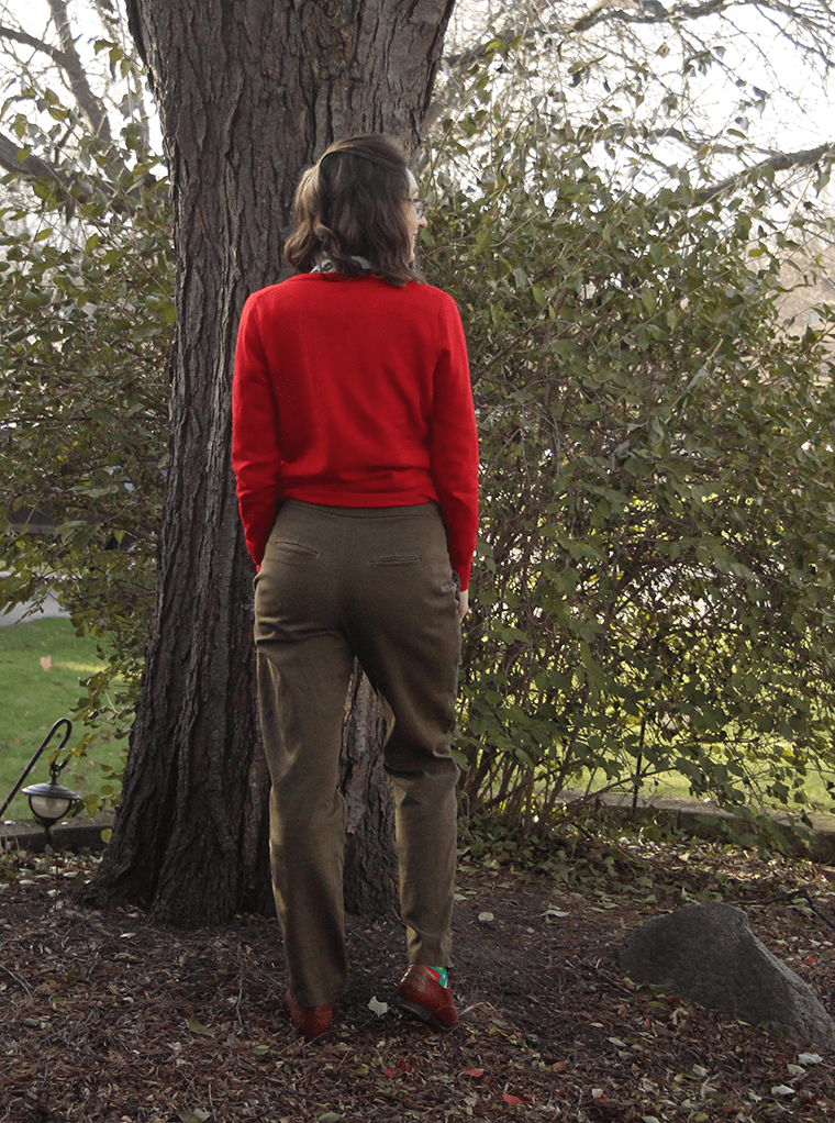 Another back view of the Hampshire trousers.