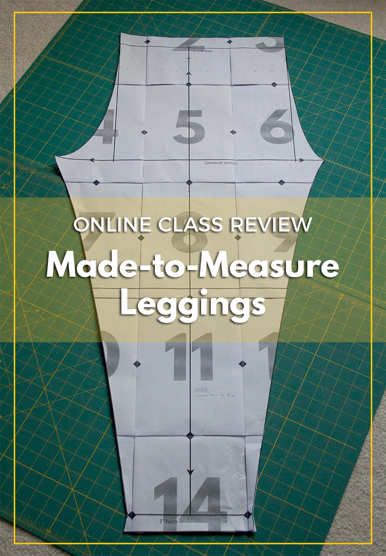 The Made-to-Measure leggings class teaches sewists how to draft a pair of leggings according to their own personal measurements! If you're curious about pattern drafting or sewing with knits, you'll love this online course from Sew Here.