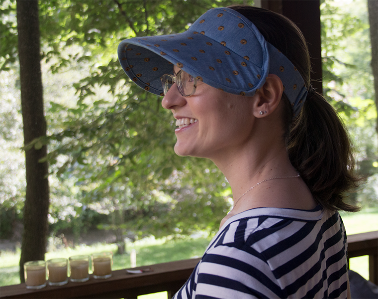 When sewing the Lucent visor, you customize the headband size for your comfort.